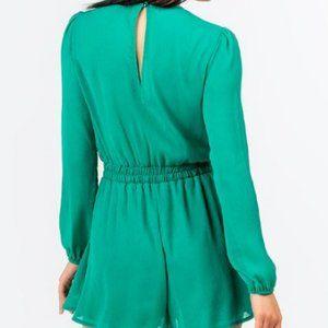 Francesca's Collections Pants & Jumpsuits - Francesca's Natosha Long Sleeve Romper